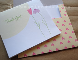 printable thank you cards flowers hearts