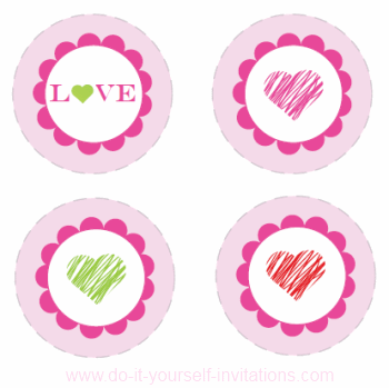 Printable Valentines Cupcake Toppers