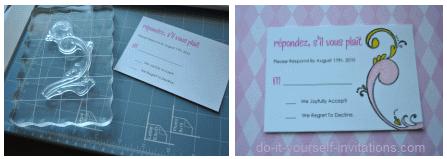 make rsvp cards templates