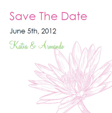 waterlily save the dates
