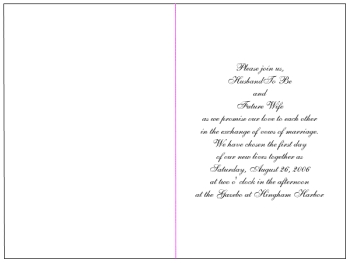 Inside text for card or invitation template