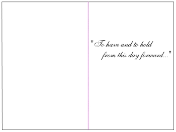 front  of card or invitation template