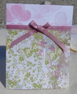 green and pink spring wedding invitations