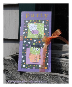 Handmade Halloween Party Invitations
