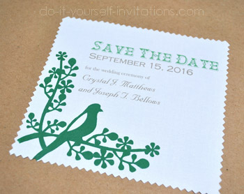 Save The Date handkerchief invitations