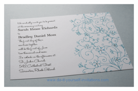 rubber stamp wedding invitations
