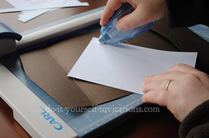 diy wedding invitations cutting