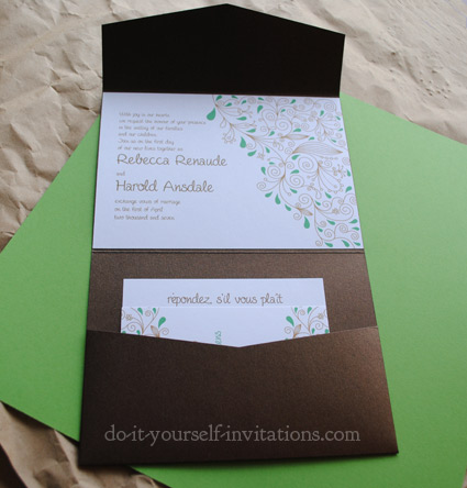 Diy pocketfold wedding invitations instructions solutioingenieria Images