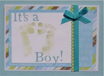 baby shower invitations with ribbon