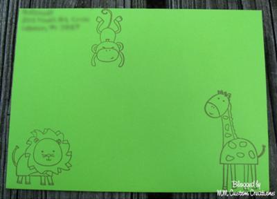 Animal stamped envelope