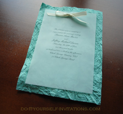 diy handmade paper wedding invitations