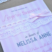 DIY lingerie bridal shower invitations
