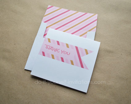 printable thank you notes and envelopes