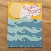 beach party invitations