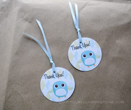 printable baby shower favor bird