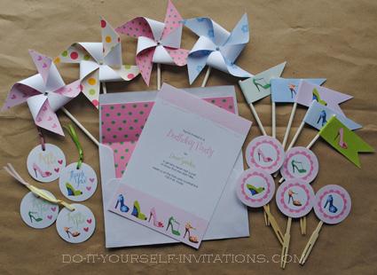 printable invitations stiletto birthday bachelorette