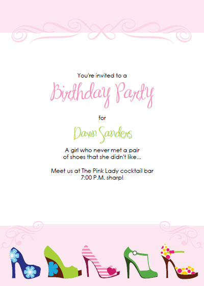 High Heel Stiletto Party Invitations