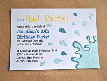 Make Pool Party Invitations DIY And Printable Template - Do it yourself will template