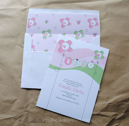 Do It Yourself Baby Shower Invitations for your inspiration to make invitation template look beautiful