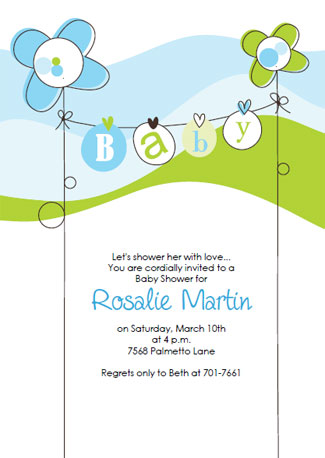 Free baby shower invitation templates for Baby shower boy invitation templates free