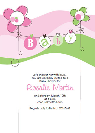 download and print the free baby shower invitation template in pink