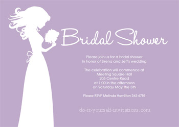 Free printable bridal shower invitations printable bridal shower invitations purple filmwisefo