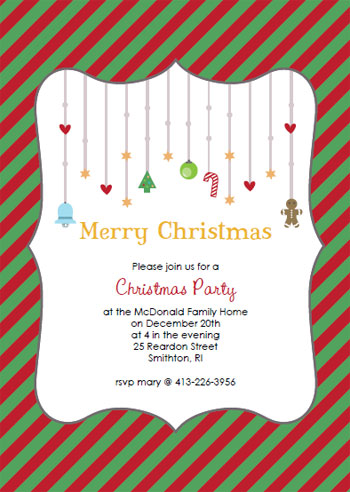 Printable christmas party invitations for Free holiday invitation templates