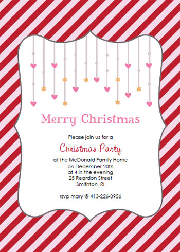 Christmas party invitations crafty christmas invitation templates