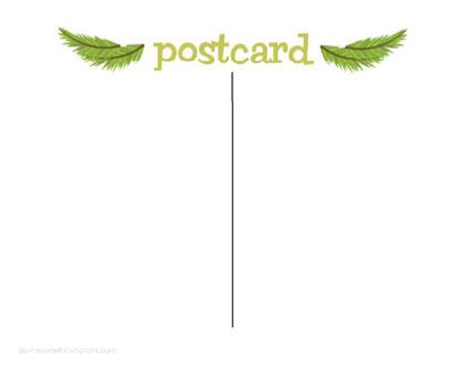Printable Christmas Invitation Postcards – Free Printable Postcard Templates