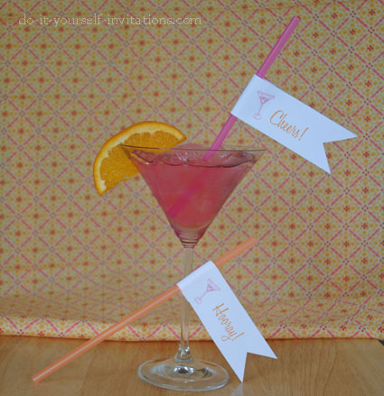 printable printable cocktail party drink flags