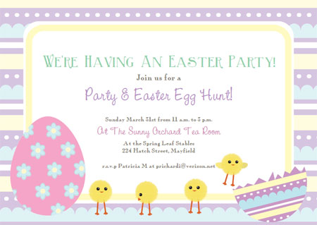 Printable Easter Cards Template  Party Invite Templates Free
