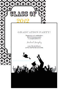 Printable Invitations And Templates - Party invitation template: graduation party invitation postcard templates free