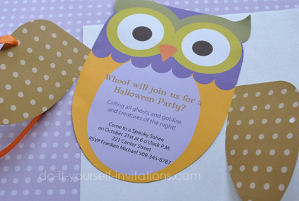 free party invitation templates owl