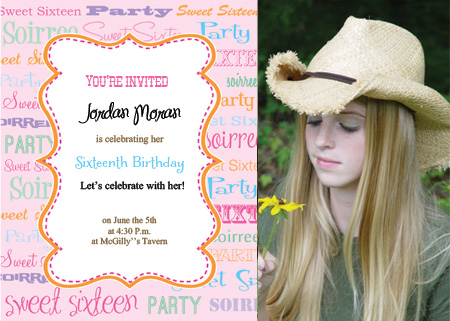 Printable Sweet Sixteen Invitations - Sweet 16 party invitation templates