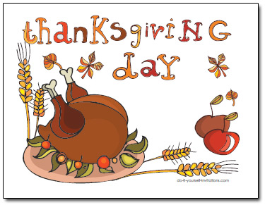 printable thanksgiving invitations postcards
