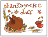 Thanksgiving Postcard Invitations