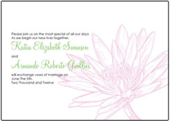waterlily wedding invitations