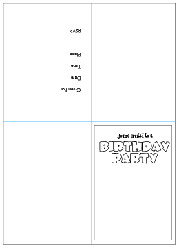 free printable kids birthday party invitations