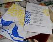 hand stamped wedding invitations