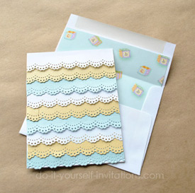 easy and elegant homemade baby shower invitations
