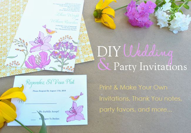 Design Your Own Wedding Invite: Printable Invitation Templates: Birthday, Baby Shower