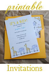 Beautiful Printable Baby Shower Invitations