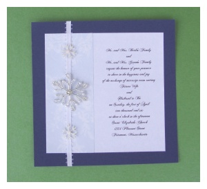 make diy snowflake wedding invitations