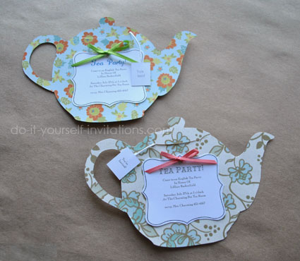 diy tea party invitations cute and crafty tea pots