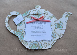 "DIY ""Tea Pot"" Tea Party Invitations"