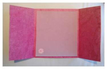 trifold handmade paper wedding invitations with vellum
