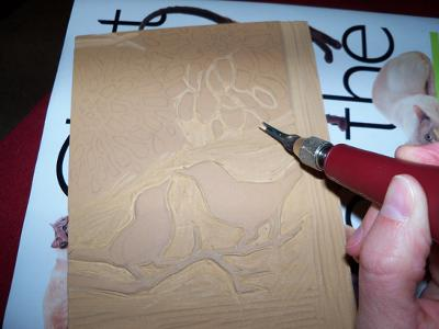 Carving the stamp out
