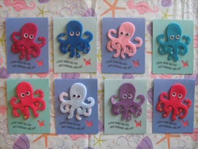 Under the sea octopus invitation save solutioingenieria Images