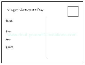 valentines day card template