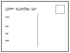 Printable Valentines postcards
